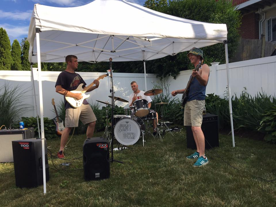Local Quincy band Who's Down? performing at PorchFest Quincy 2018.