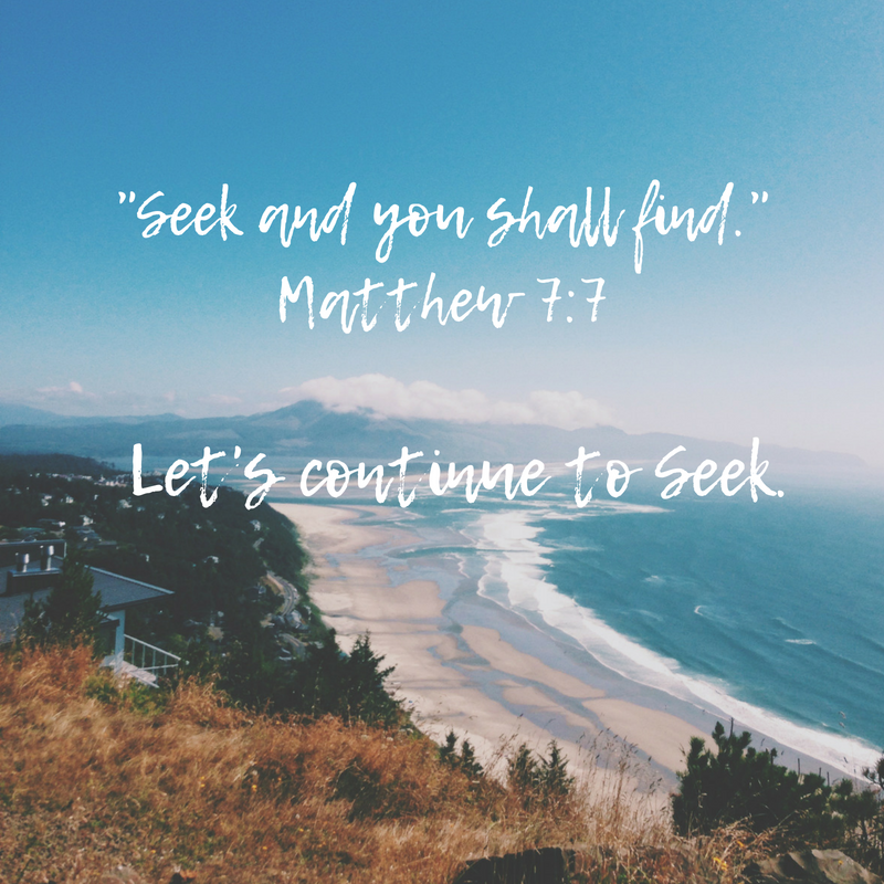 Continue to Seek - Oh My Marr