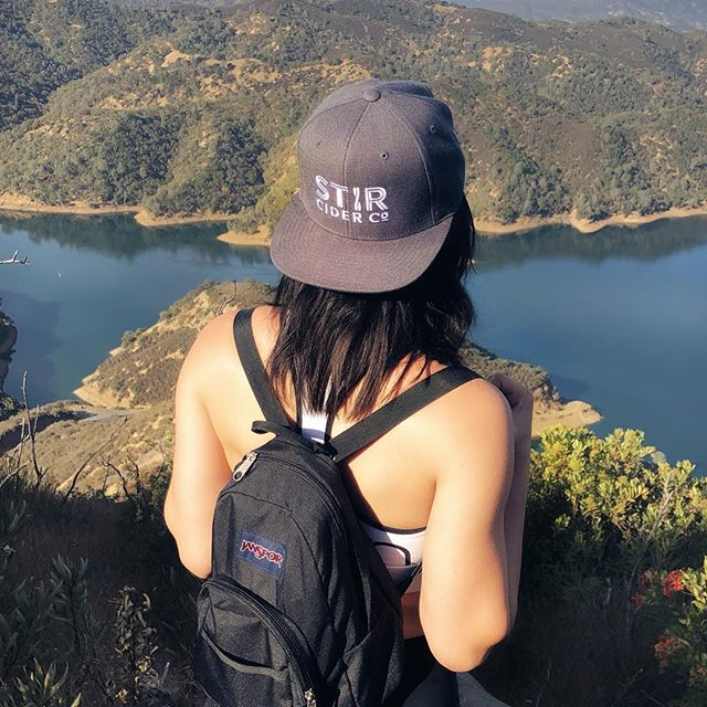 Hiking with the right gear! . . . . #stircider #lakeberryessa #norcal #thatview #swag #drycider #appleseason #orchardtokeg #craft #sacbeerenthusiasts #ciderlover