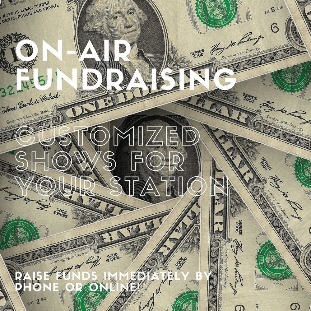 ON AIR FUNDRAISING   If your radio or TV station needs to bring in a lot of money, look no further. In addition to being a multi million dollar fundraiser, I will even supply you with the products you need to reach your financial goals! Cha-Ching!    CONTACT ME FOR A FREE CONSULTATION AND QUOTE >>