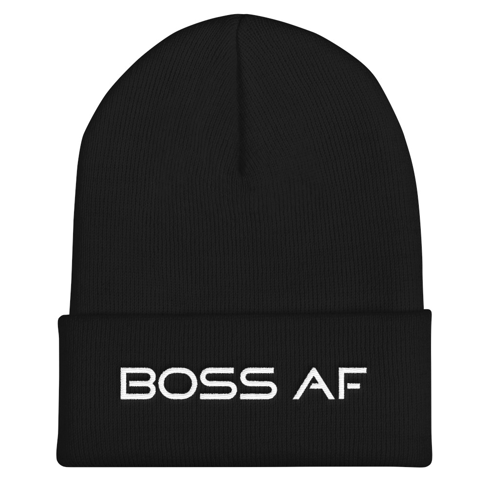 BOSS AF CUFFED BEANIE - If you're a BOSS AF entrepreneur, business owner or just a cool human being needing a bold fashion statement this snug, form-fitting beanie is for you! Available in 6 colors to suit your Boss AF mood!
