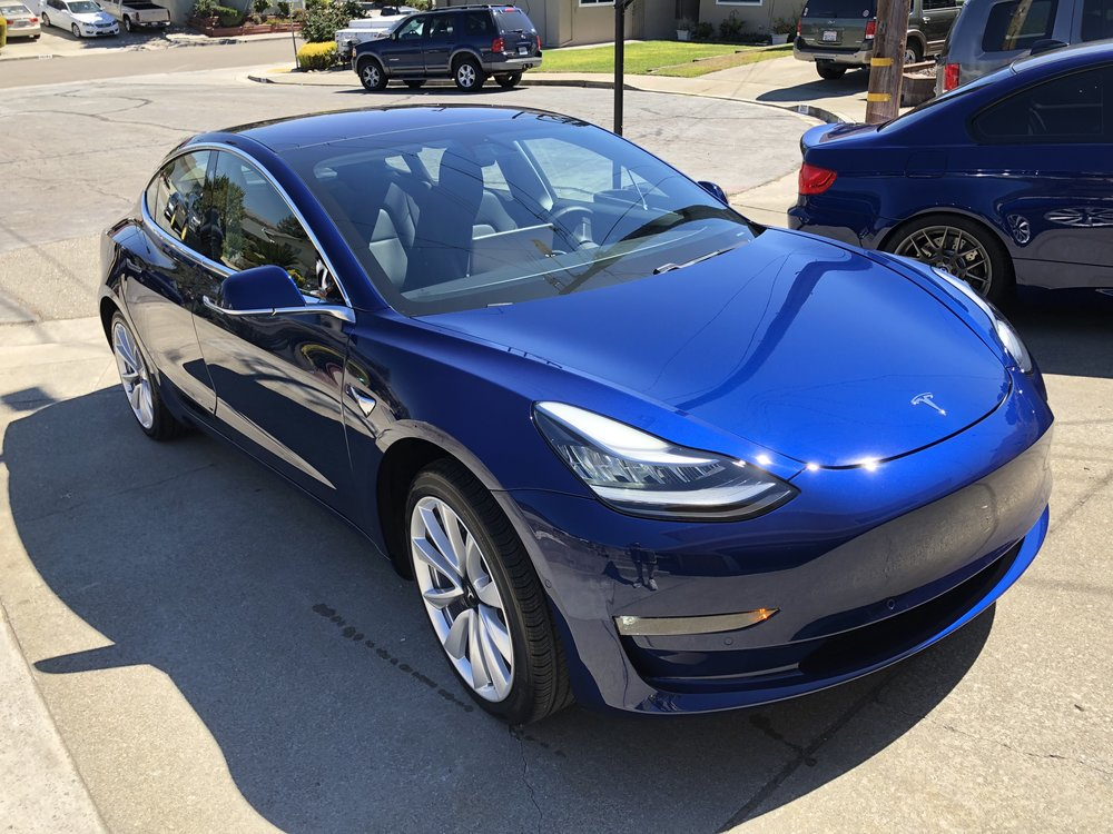 2018 Tesla Model 3 Blue Detailership