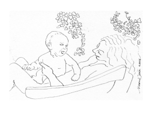 Drawing of Listening Gabriel and Naomi 1975.JPG