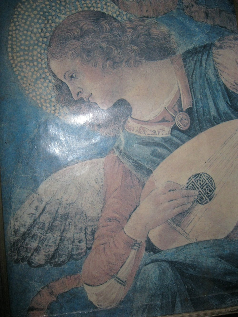 "{""Angel with Lute,"" by Melozzo Da Forli, 15th century} - More meditations coming soon. Stay ""tuned."""