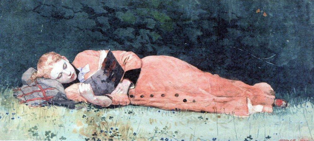Reading woman - The New Novel (Winslow Homer, 1877).jpg