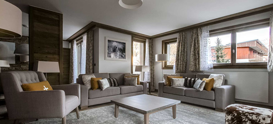 CARRE BLANC, Courchevel, Luxury Ski Apartments - Location: Couchevel Village, Mount BlancGuide Price From: €1.980,000 3-BedApartment No 373+ Spa with Fitness and Wellness AreaCarré Blanc is an authentic testament to the architectural heritage of the valley of the Tarentaise. The chalets are clad in traditional stone with a beautiful blond wood whilst the design style pays respect with utmost care and attention to the natural ambiance of Courchevel Village, which basks in the presence of the ever-present sentinel that is the majestic Mount Blanc.So come and join us in our mountain retreat and let natures beauty embrace you!