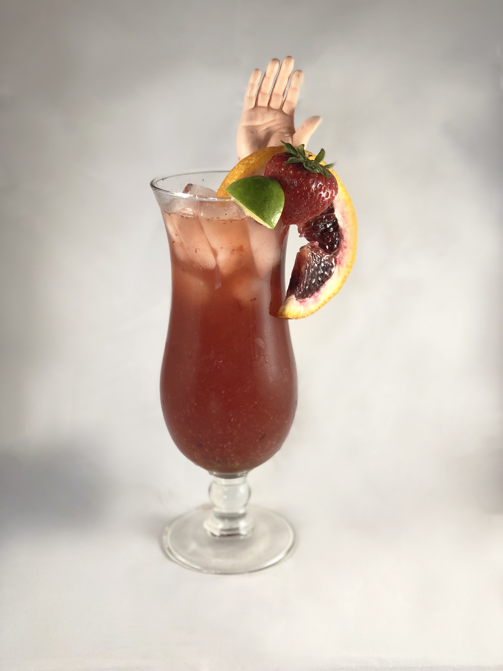 Office Killer (1997) - Dorineadine:Cran cherry juiceSugarPink peppercornCinnamonHerricane:5 Large strawberries, muddled and strained5 oz Passion fruit juice1 Blood orange, juiced1 Lime, juiced2 oz Spiced rum1.5 oz Coconut rumDorineadine, or grenadine, to tasteFruit for garnish To make Dorineadine: Combine equal parts juice and sugar in a saucepan and season to taste. Boil, stirring frequently until dissolved. Strain, and allow to cool before use. To make Herricane: Combine all ingredients in a shaker with ice and shake vigorously, then pour over fresh ice; if you're feeling frisky, pour in a blender with fresh ice make a slush. Add fruit and flesh for garnish.