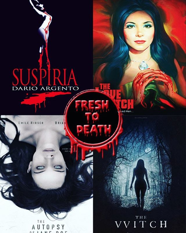 It's Frightday the 13th! To celebrate the best day(s) of the year (and our 10 year friendiversary 👯‍♀️!), we made a very special Witchfest eepisode about 4 of the hexiest ladies we know... Witch ones? Well listen in and you'll find out as we discuss #suspiria, #thewitch, #autopsyofjanedoe, and #thelovewitch. 🖤 These movies were *so* close to our tiny black hearts that we gave them our bloody seal of approval and dubbed them #freshtodeath.  So light some candles, fire a sigil, and tune in for a wiccan good time. #👻 #🎙 #🦇 #🍸 #witchfest #frightday #fridaythe13th #podcast #ghoulcopbatcop #hexy