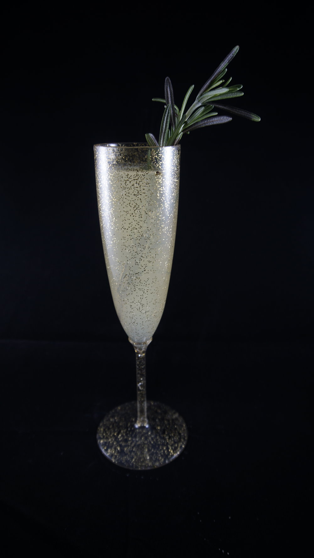 Afternoon Defright - 1.5 oz AbsintheSplash of rosemary simple syrupDry champagneFresh rosemary (for garnish) Pour absinthe and rosemary simple syrup in a shaker over ice. Shake until well chilled, then pour in a glass and top with champagne. Add fresh rosemary for garnish.