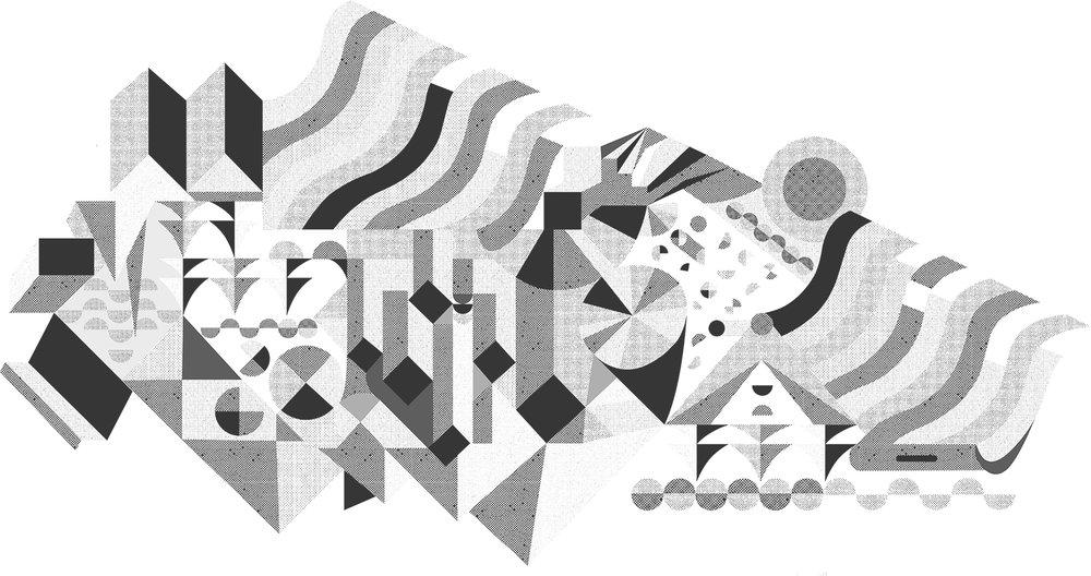 Geometric or Not.  Illustration.