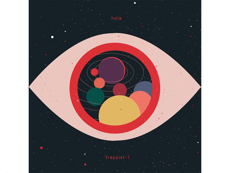 Hola Trappist-1.  Illustration.