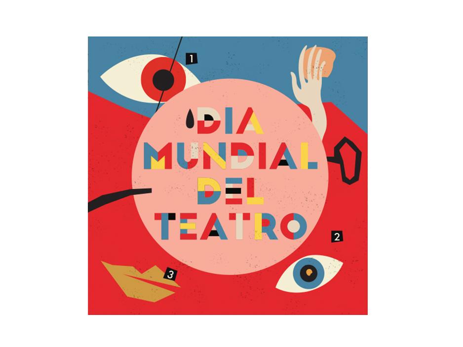 Dia Mundial del Teatro.  Illustration