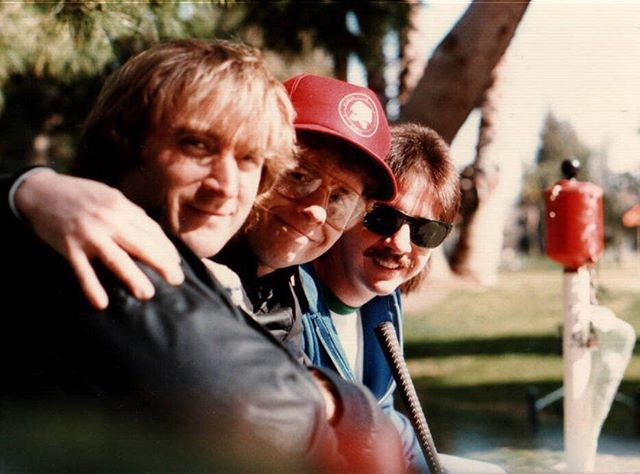 Time never stands still.  Three amigos from my L.A. days - sometime in the 1980s.  This is a flashback to a regular Saturday morning outing at the 3Par golf course in Studio City.⠀ ⠀ L to R:  Joseph Graves - Actor/writer/director/producer - now based in China where he has worked for years teaching, acting, directing and producing Shakespeare to and with Chinese students and professionals.  He's also a very successful producer of English language musical theater for Chinese audiences. ⠀ ⠀ Me in the middle rocking the big 80s glasses (that for some unknown  reason seem to be gaining popularity again) and the red SAG hat.  I'm now based in the ATX area and still acting (and producing a bit) and still passionate about the actors journey.  Also now a board member for my SAG-AFTRA local in TX.⠀ ⠀ Far right is our great friend Mark Bloodworth.  Mark is a talented singer, songwriter, musician and engineer who has recently retired to the Tyler, TX area.  Mark literally travelled the world, not as a musician but as an engineer who became THE expert with a valuable piece of energy related equipment I can't even begin to understand.  Mark is playing guitar better than ever and still writing songs and looking forward to working in a new band in his new hometown. ⠀ ⠀ Making lasting relationships has been the most rewarding part of traveling this actors journey.
