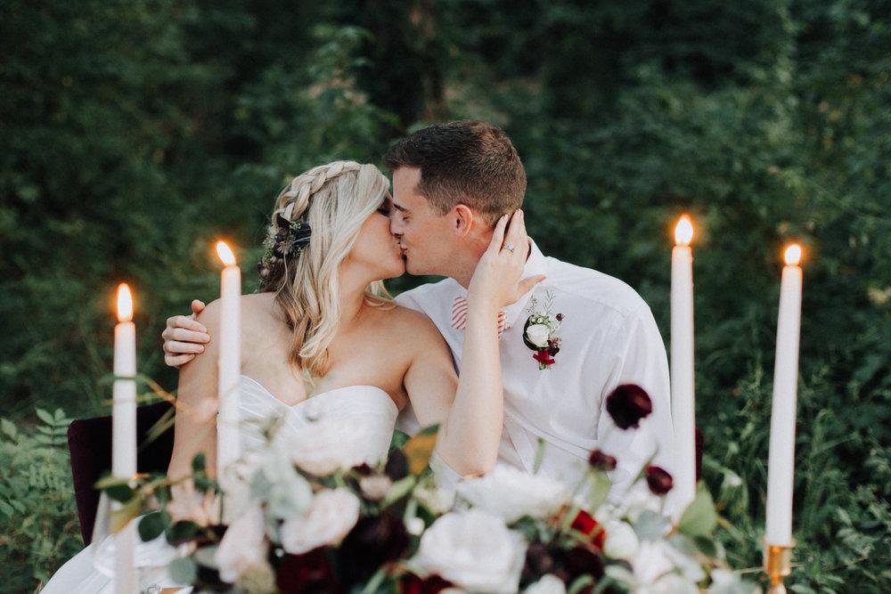 Dog at wedding, floral collar and leash for wedding, rose gold wedding theme, fall wedding, North Carolina Wedding Photographer