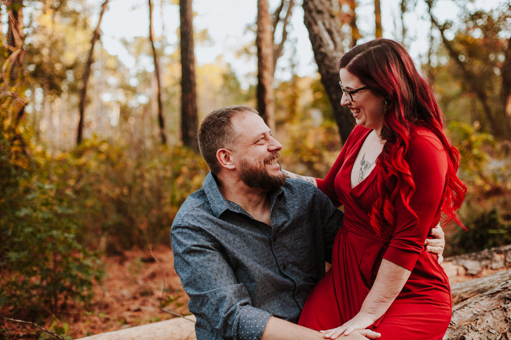 NC Fall Engagement Photo   William B Umstead State Park   Fall Outfit Inspiration