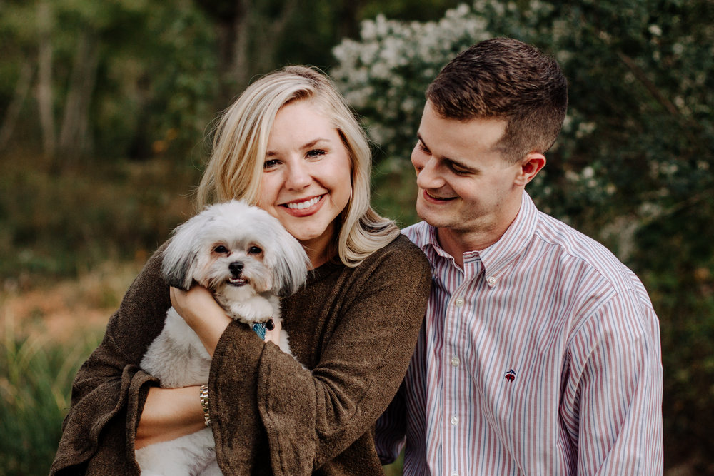 NC Fall Engagement Photo   Dog in Engagement Photos   Raleigh Engagement Session   Fall Outfit Inspiration   Raleigh NC Photographer