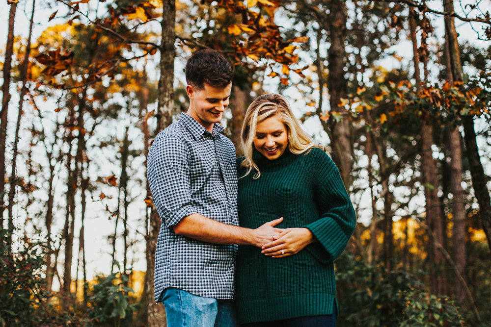 William B. Umstead State Park, Raleigh | Fall Pregnancy Announcement Photos