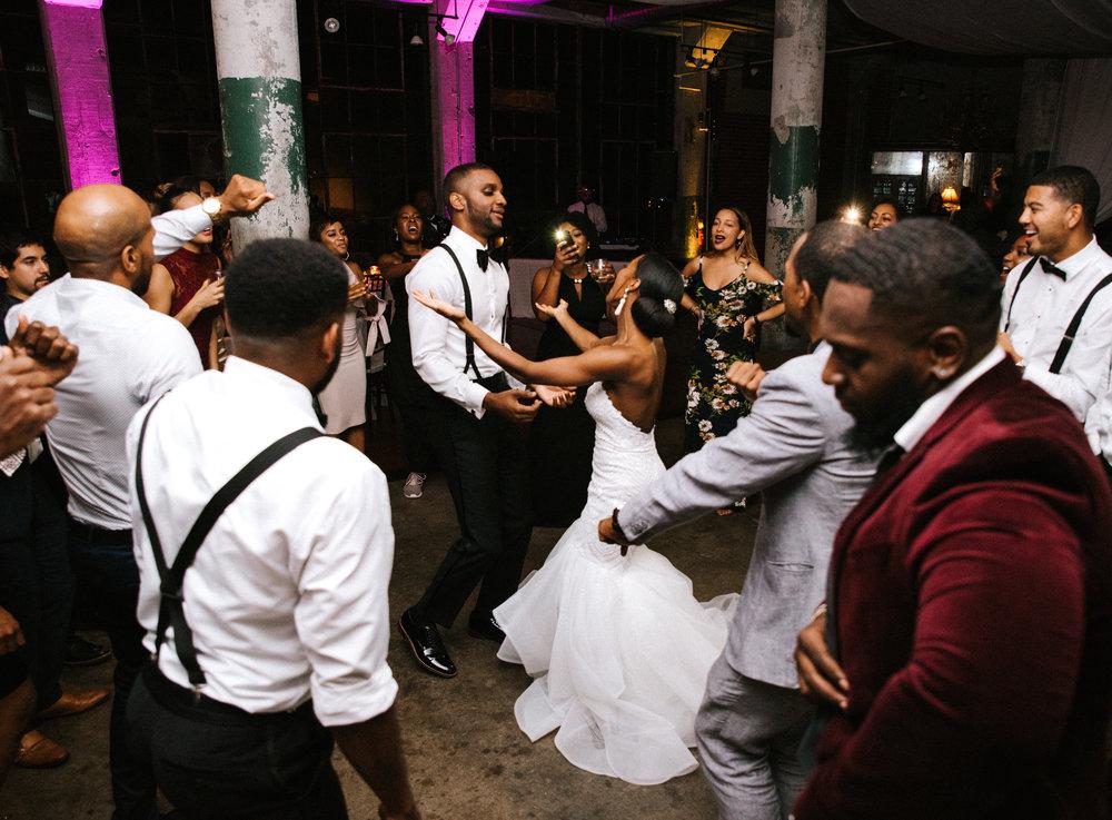 The Lofts at Union Square, High Point, NC. Wedding Reception Photos, Dancing Photos. North Carolina Wedding Photographer, Marina Rey Photography.