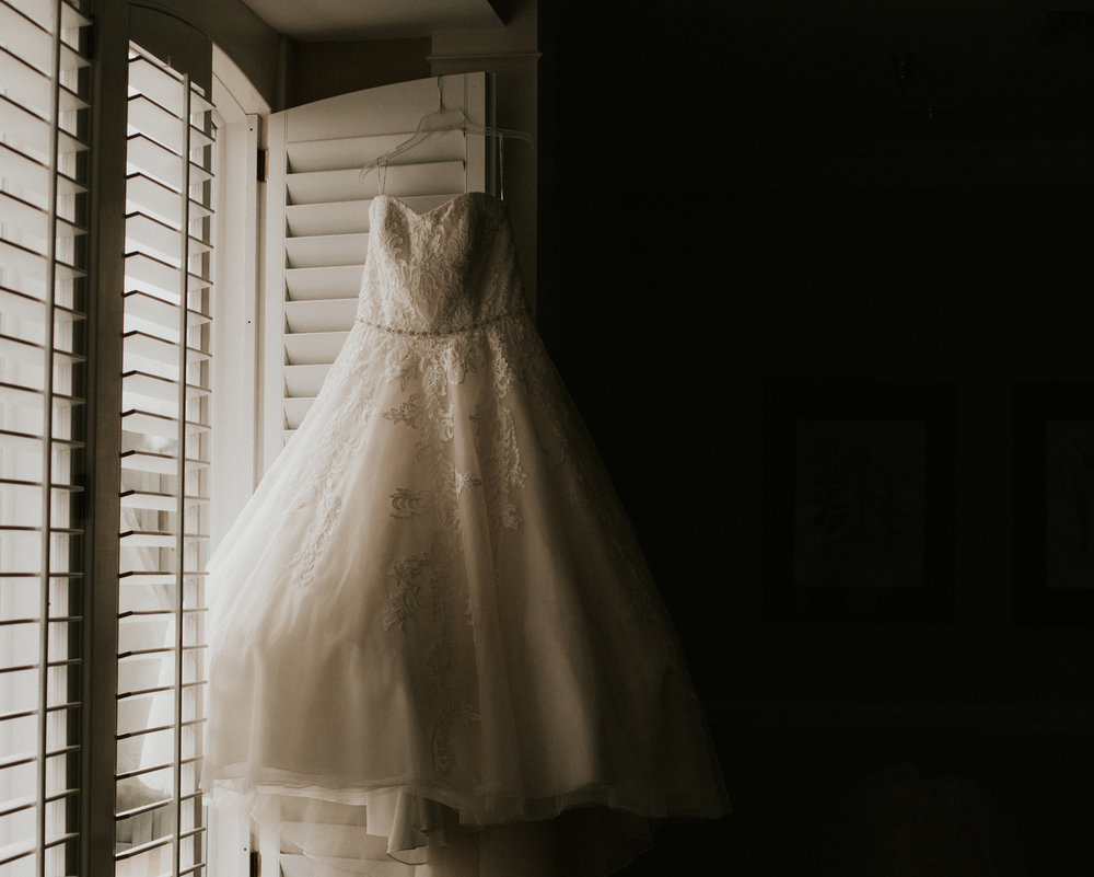 Hope Valley Country Club, Raleigh NC | Fall wedding | Sweetheart ball gown wedding dress | Marina Rey Photography