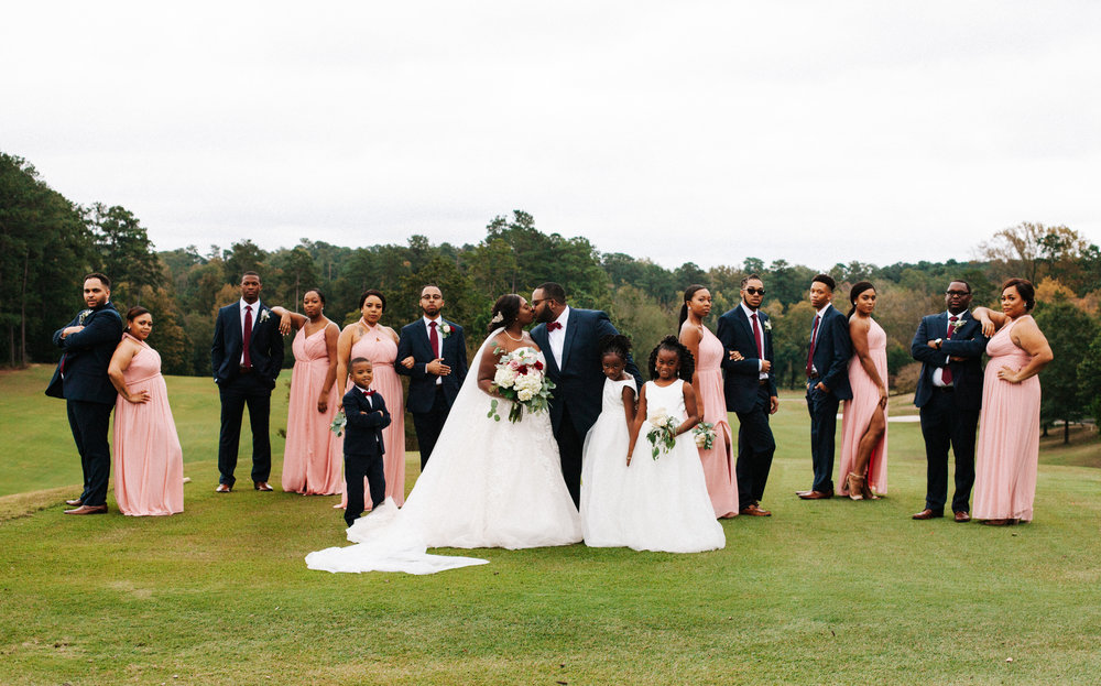 Hope Valley Country Club, Raleigh NC | Fall wedding | Bridal party photos | Marina Rey Photography