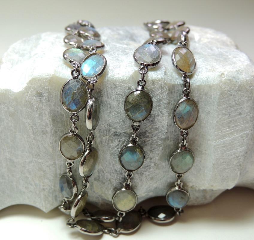 Labradorite and Silver