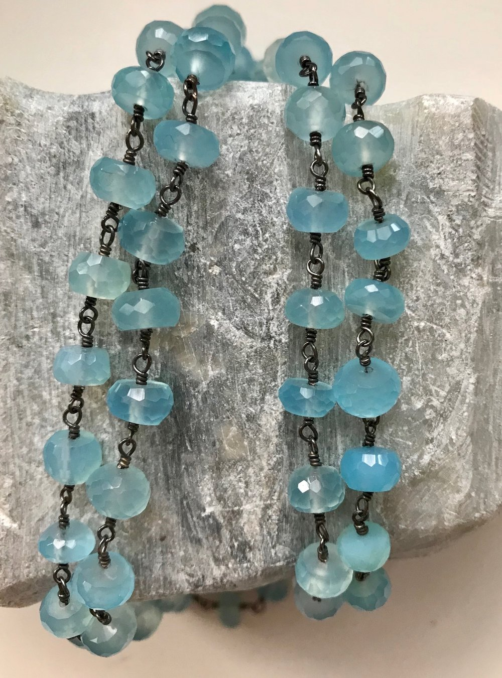 Chalcedony and Silver