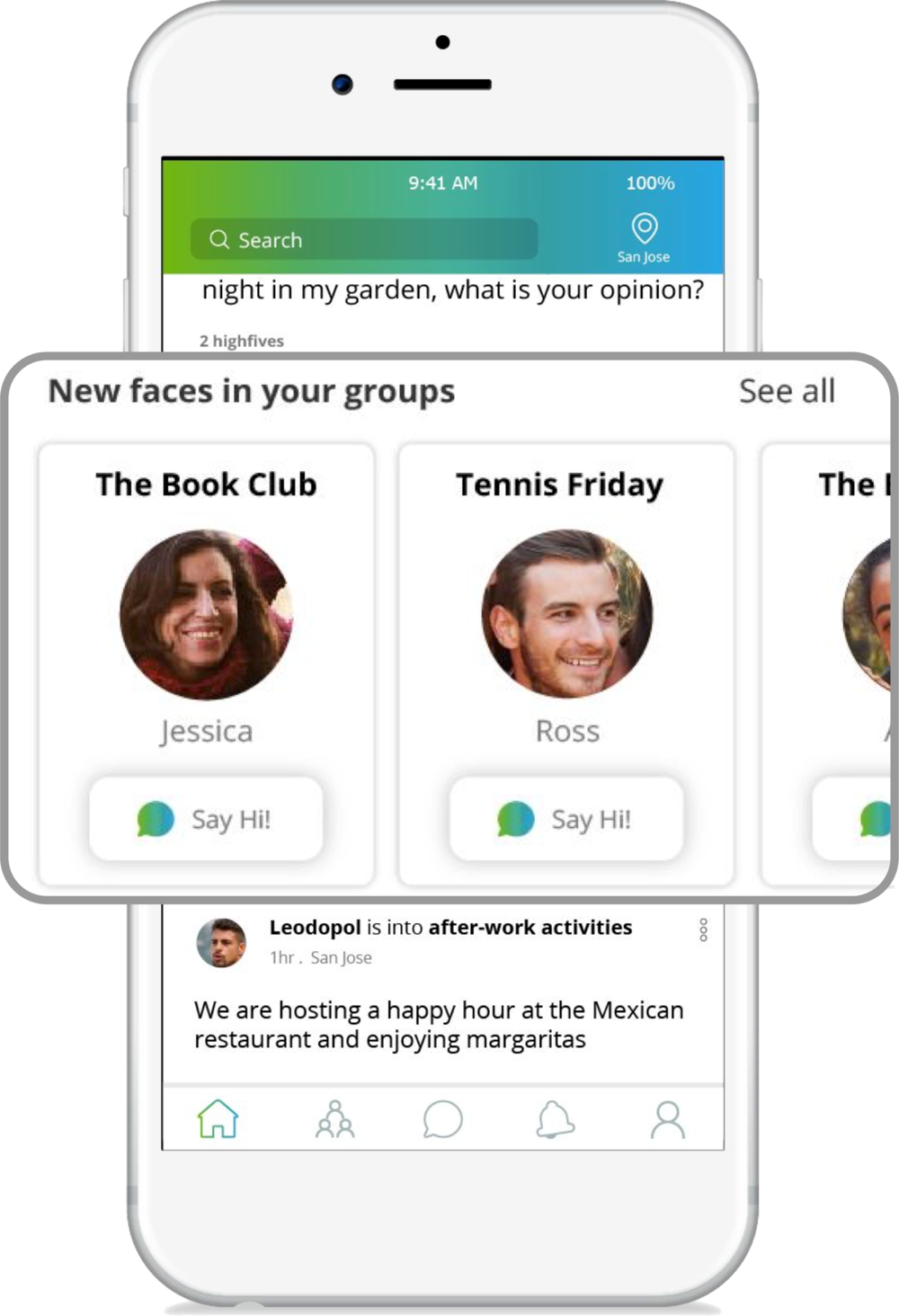 On-boarding is madeeasy and fun with groupsand events -