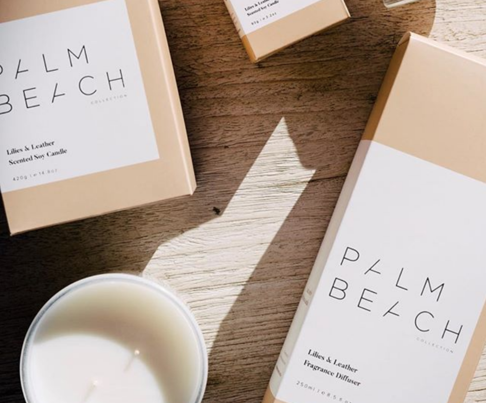 Palm Beach Collection - 'Palm Beach Collection is a luxurious yet affordable collection that consists of hand-poured scented candles, reed diffusers and bath products available in an array of inspiring fragrances. Our fragrances are a gentle nod to our love of Sydney's Palm Beach, a place that has shaped and defined our journey as a brand.Palm Beach Collection offer a unique selection of products designed for the Australian aesthetic and lifestyle. A family owned and run Australian business, Palm Beach Collection is passionate about creating beautiful fragrances inspired by Australia's coastal landscape.'