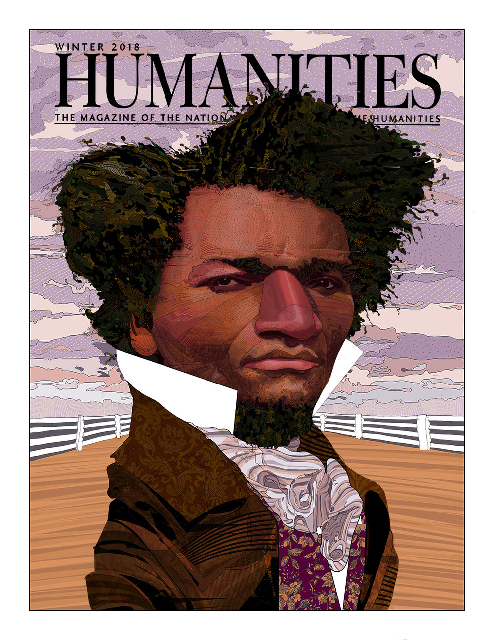 Young Frederick Douglass   cover art for Humanities Magazine