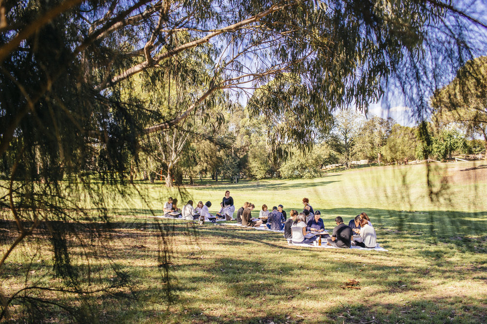 We hosted a workshop for Aesop at their annual strategy day, it was an outdoor session in the gardens at Heide Museum in Melbourne and focussed on amplifying human experience in retail environments.