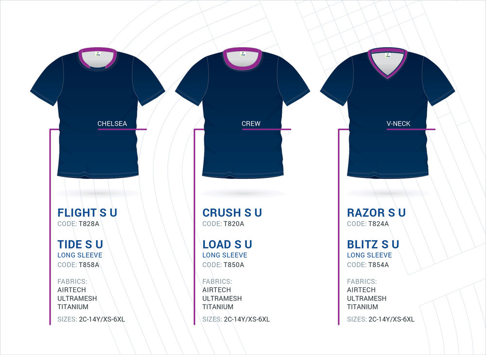 Unisex Set-In Sleeve Tops