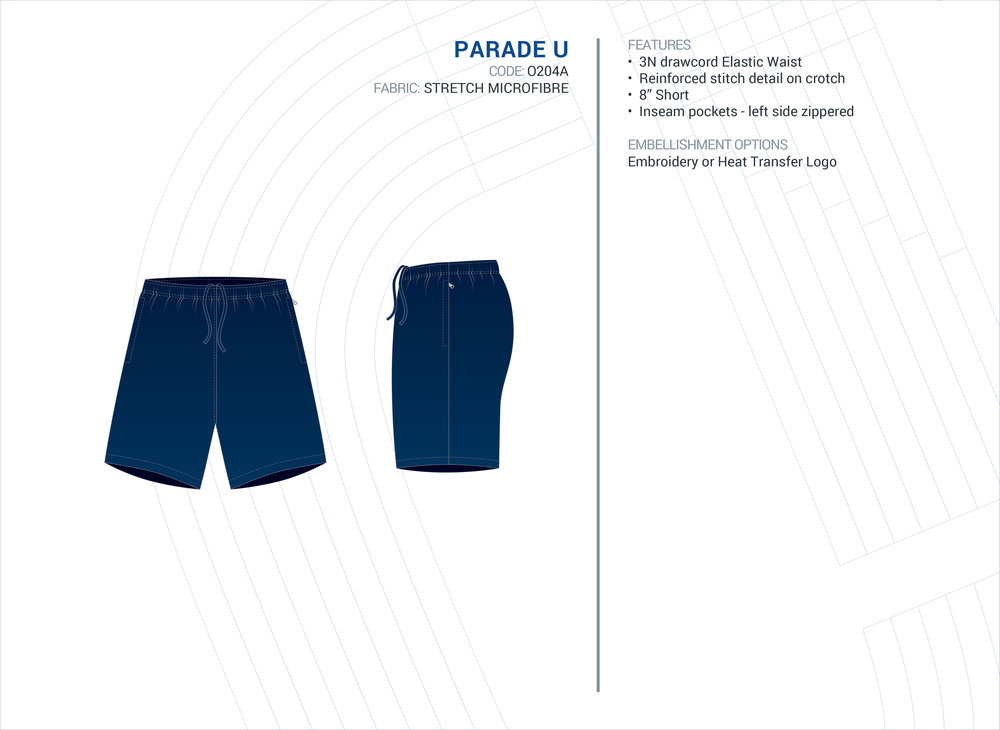 Unisex  Parade  Stretch Microfibre Short