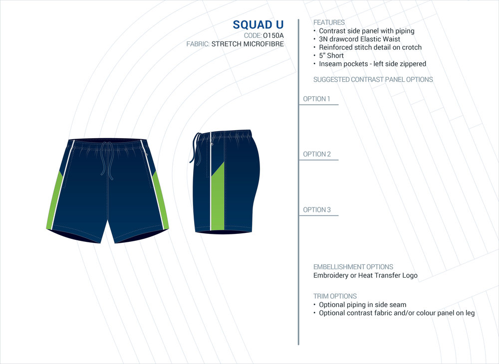 Unisex  Squad  Stretch Microfibre Short