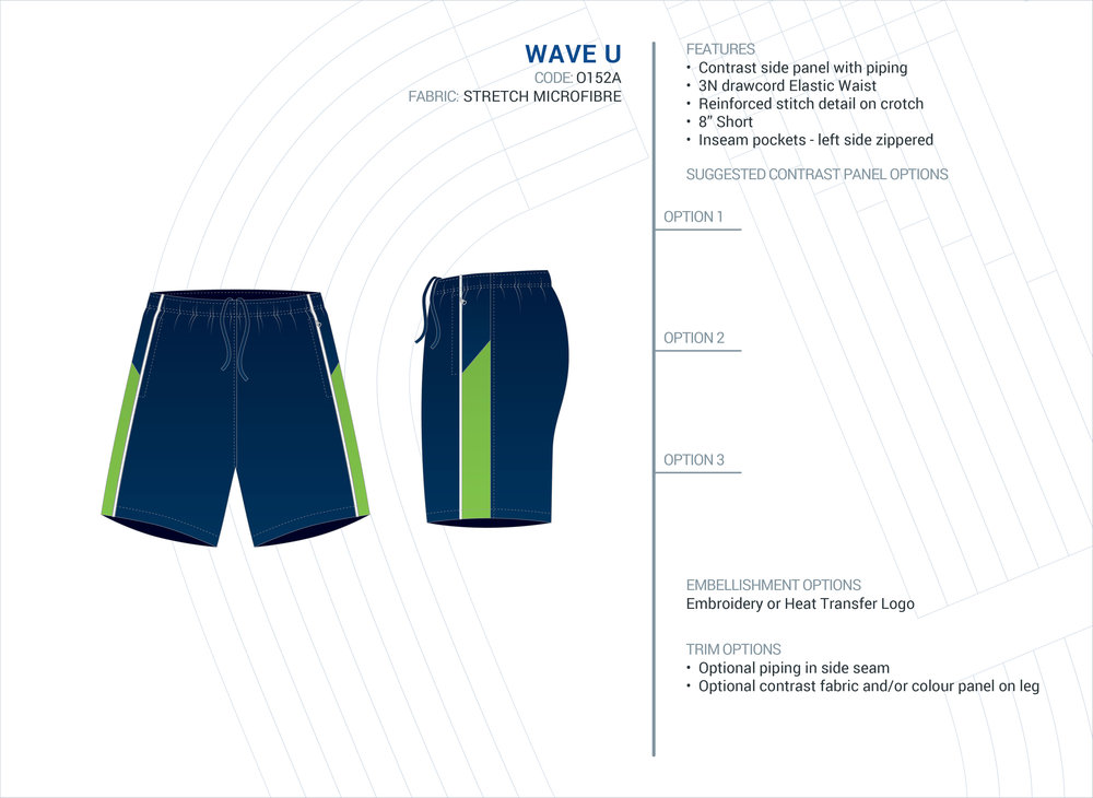 Unisex  Wave  Stretch Microfibre Short