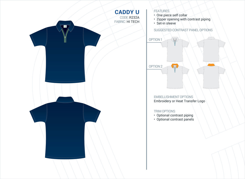 Unisex Caddy Hi-Tech Polo