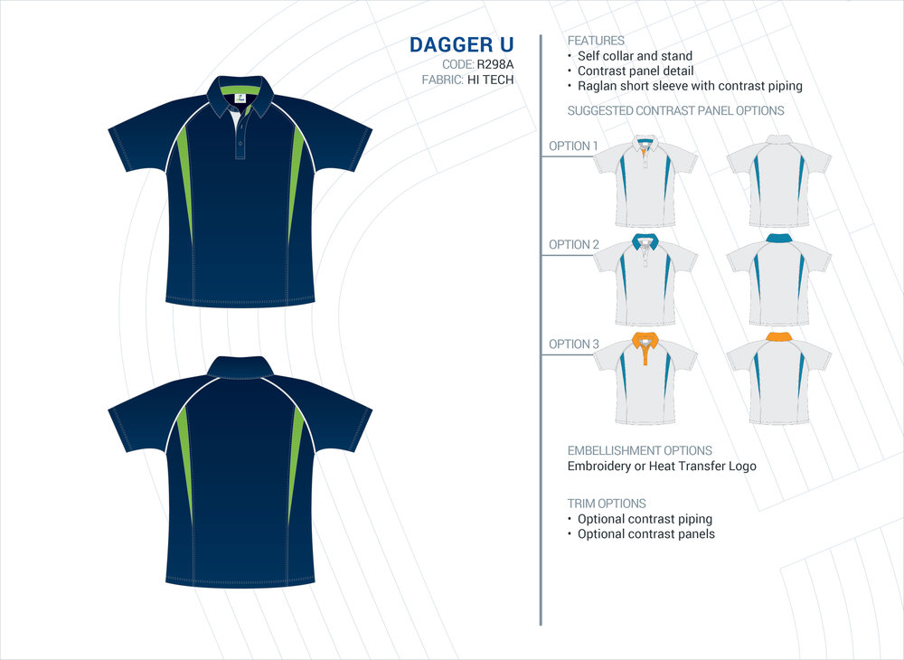 Unisex Dagger Hi-Tech Polo