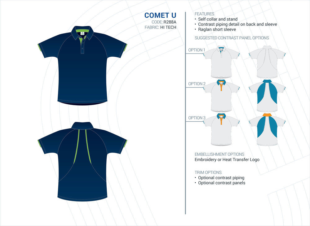 Unisex Comet Hi-Tech Polo