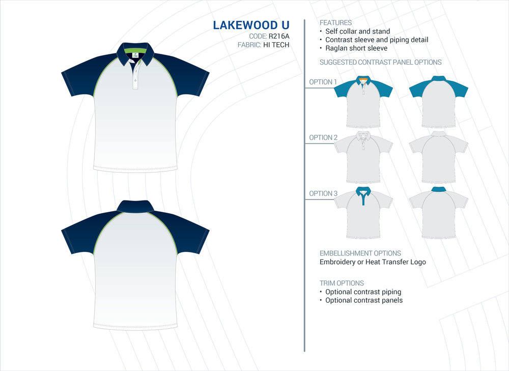 Unisex Lakewood Hi-Tech Polo