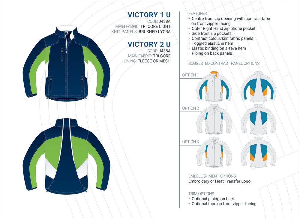 Unisex  Victory  Tri-Core Jacket