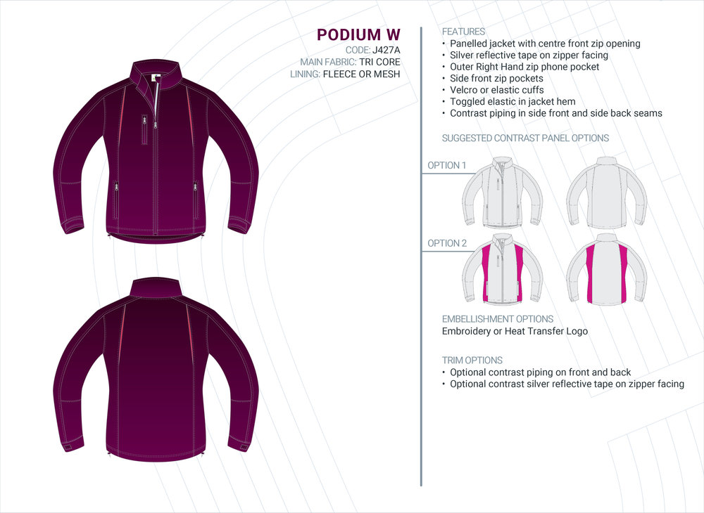 Women's  Podium  Tri-Core Jacket
