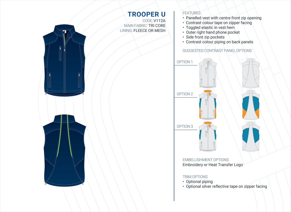 Unisex Trooper Tri-Core Vest