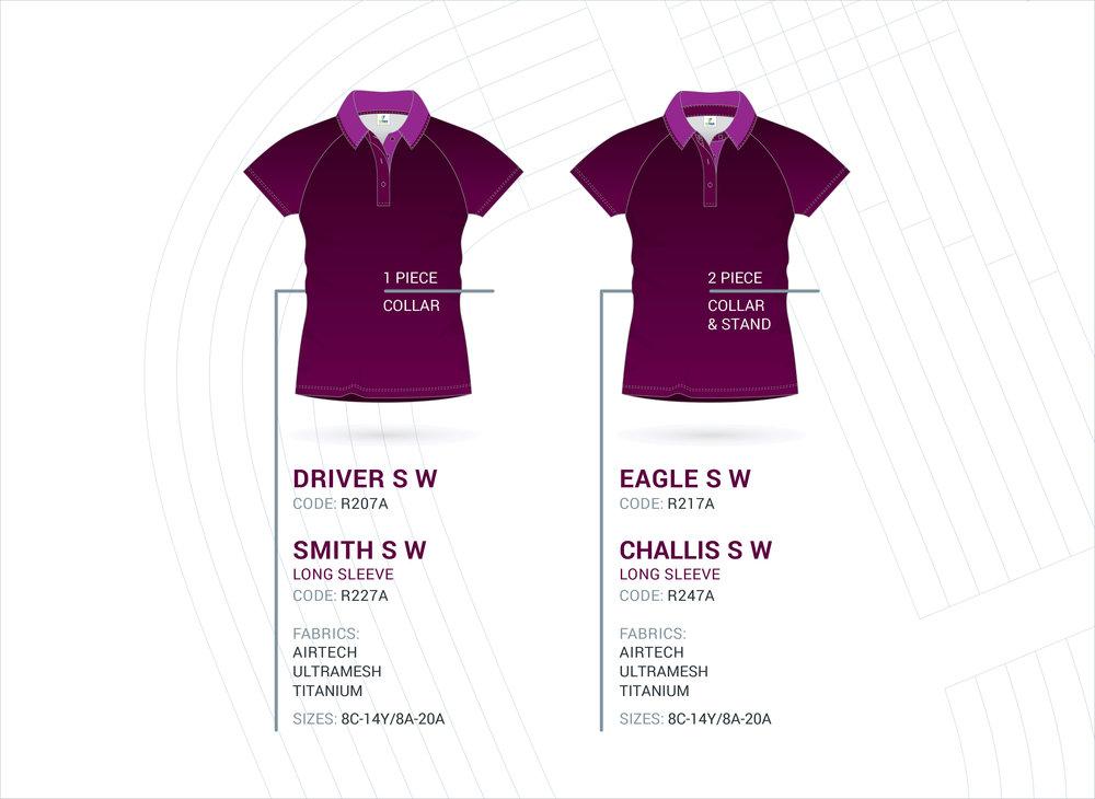 Women's Raglan Sleeve Polo's