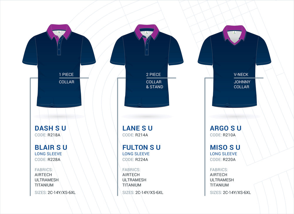 Unisex Set-In Sleeve Polo's