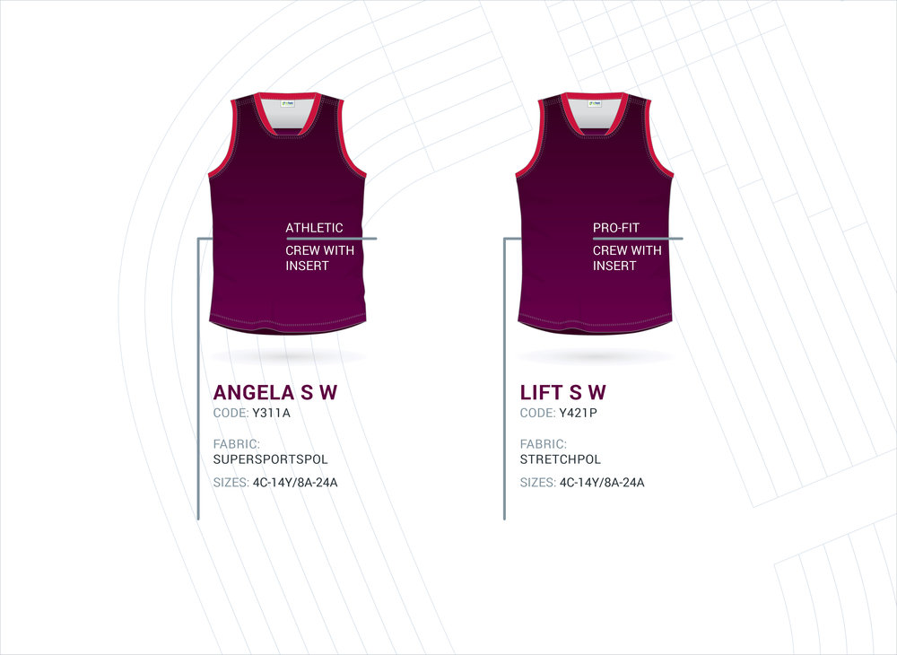Women's Crew with Insert AFL Tops