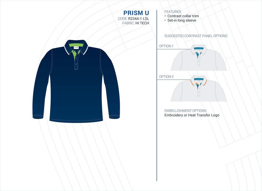 Unisex  Prism  ELC Long Sleeve Polo