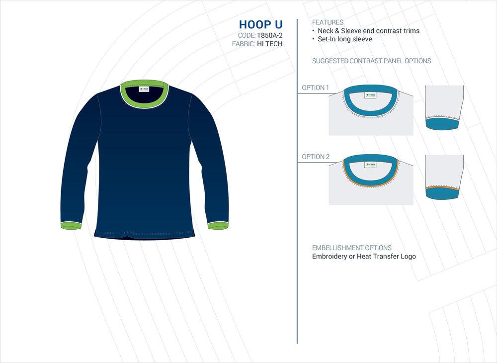 Unisex  Hoop  Long Sleeve Top