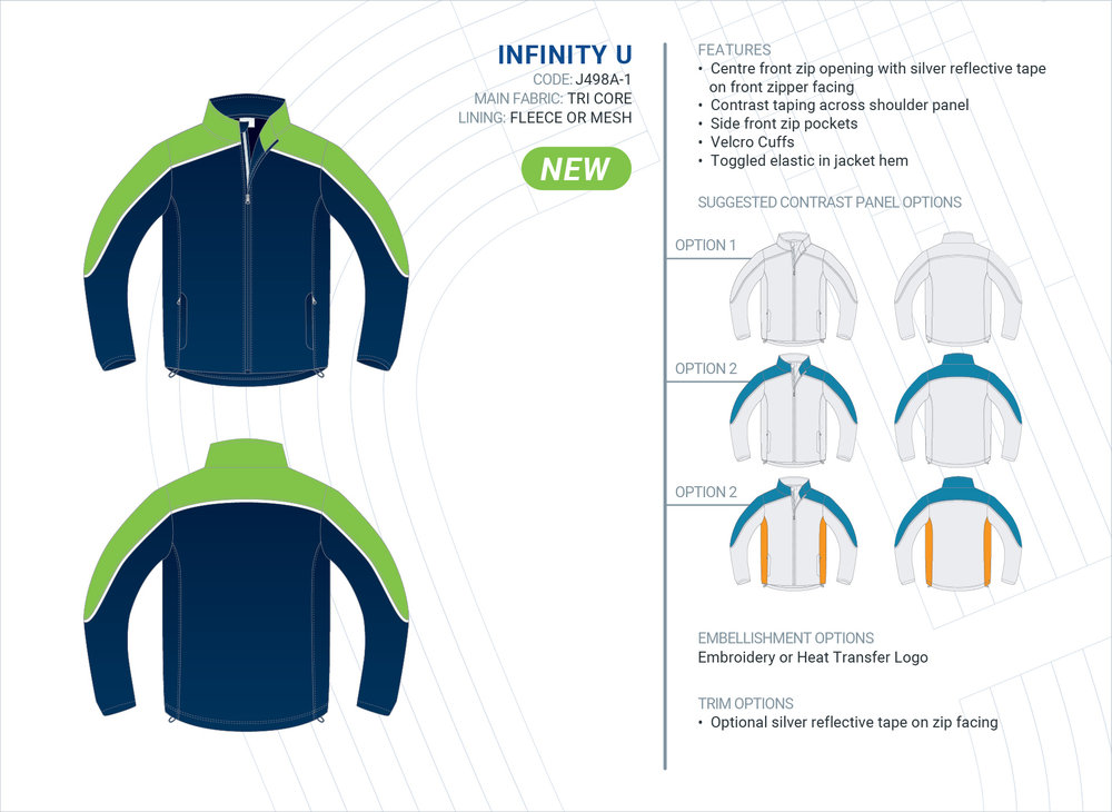 Unisex  Infinity  Tri-Core Jacket