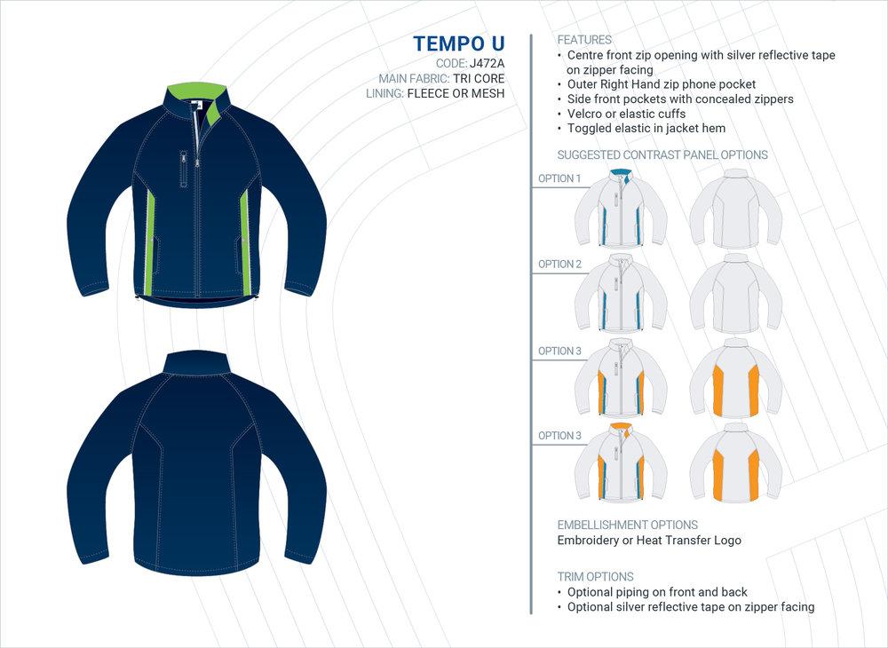 Unisex  Tempo  Tri-Core Jacket