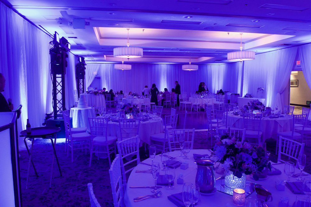 Uplighting  - Transform your event space by adding some color.