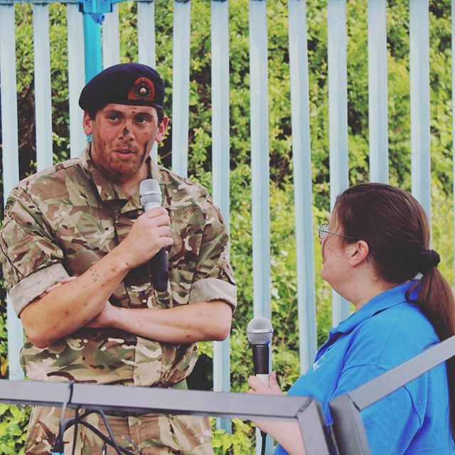 Karen interviewing one of the Sea Cadets from this weekend #radio #music #ashington #northumberland